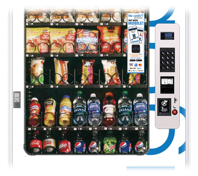 Experience beautiful touchless vending.