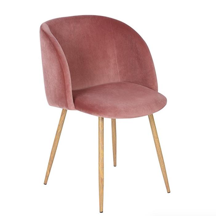Mid Century Velvet Accent Chair