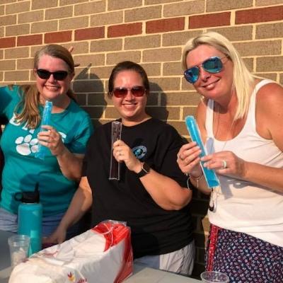 L-R: Stephanie Aspinwall, Amanda Scholl, and Kirsten Birge. Photo by Henry Birge.