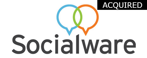 Socialware  Initial Investment:  Series A in 2009  Acquired by ProofPoint in 2015 Software and services for organizations to market through social media.