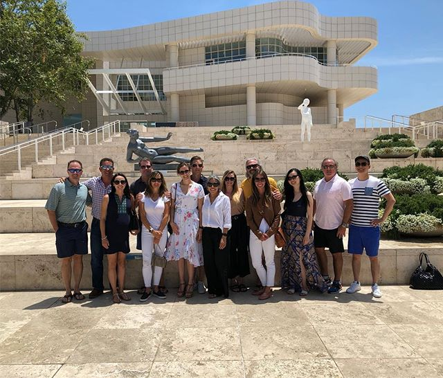 At the Getty!