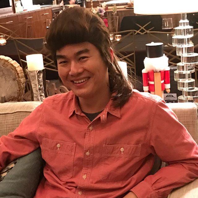 Need I say more...? Roger's new hairdo looks tight!