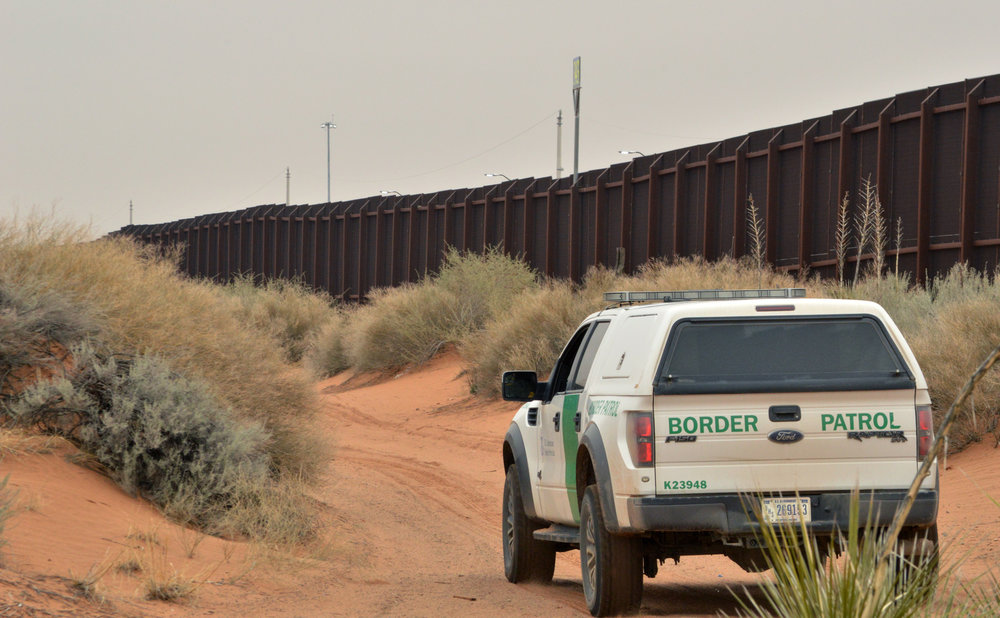 A Border Patrol Vehicle Patrols the Border. Source: LA Times
