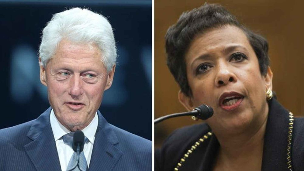 In the midst of the email probe of Hillary Clinton, Bill Clinton meets privately with AG Loretta Lynch. Source: The Hill Talk