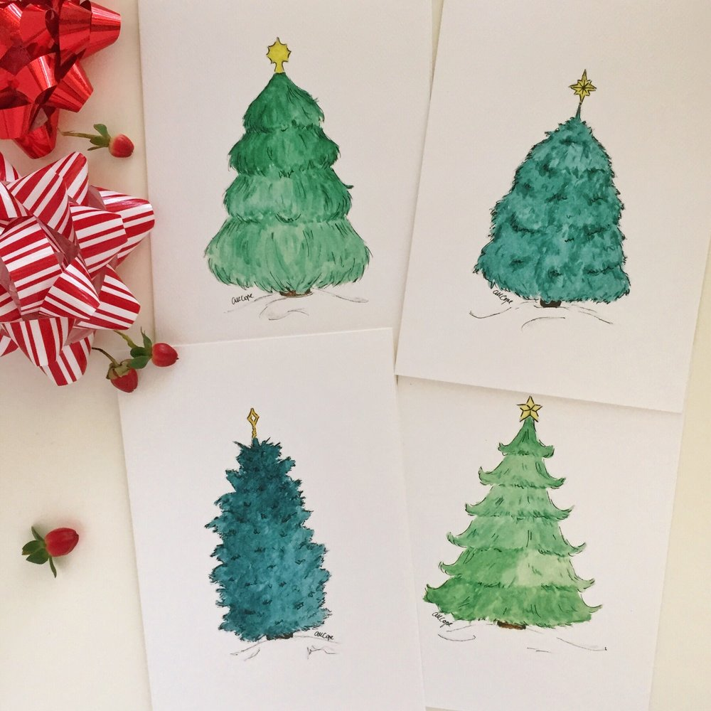 ChristmasTreePack2_Watercolor_Card_AnnaKayArtworks.JPG