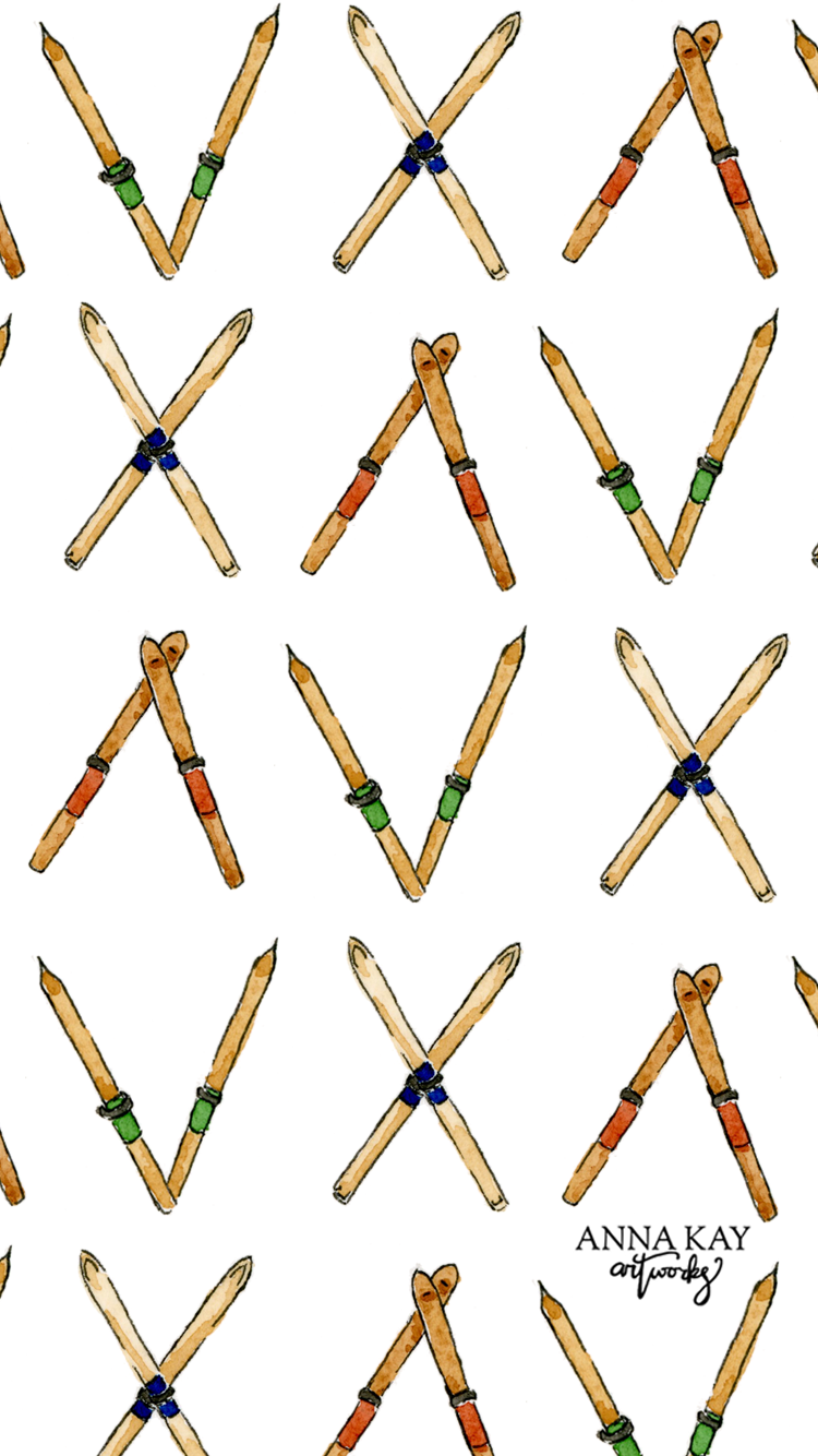 Snow Skis Free Phone Background Anna Kay Artworks.png