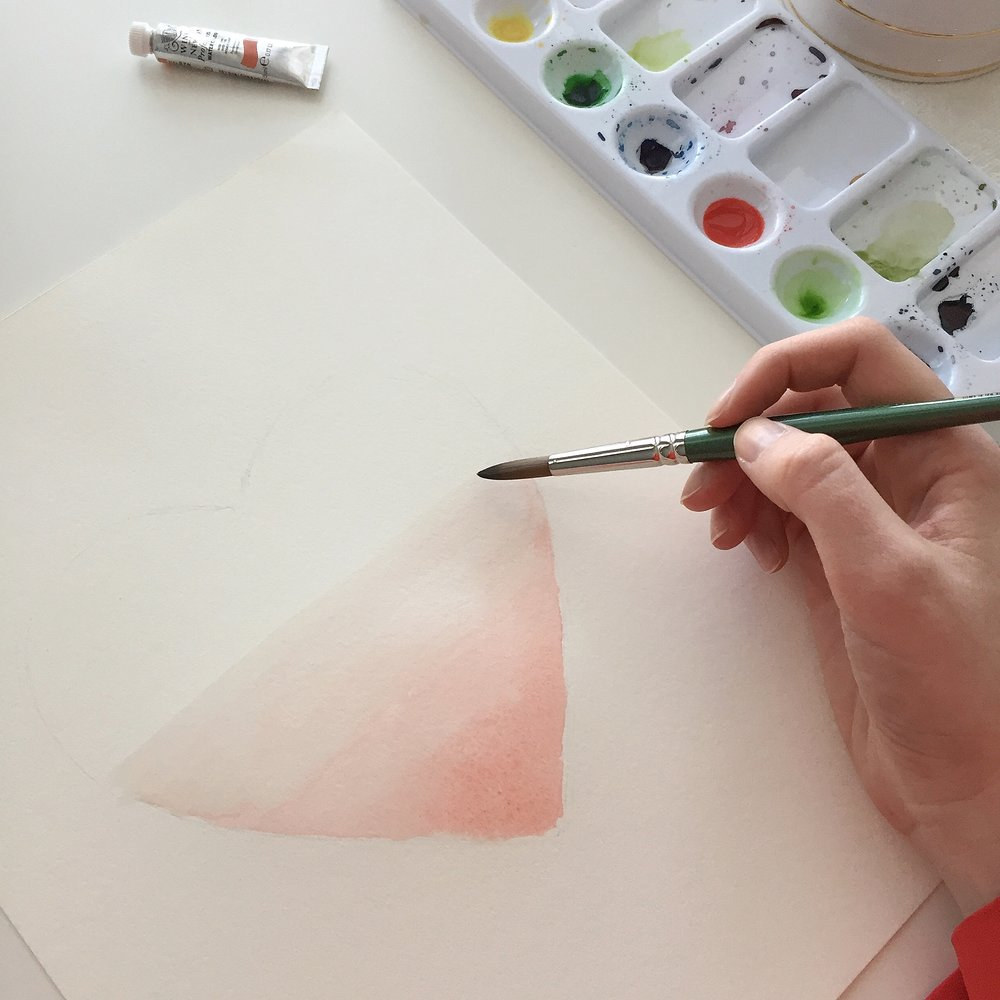 Ombre Watercolor Heart Tutorial Anna Kay Artworks7.JPG