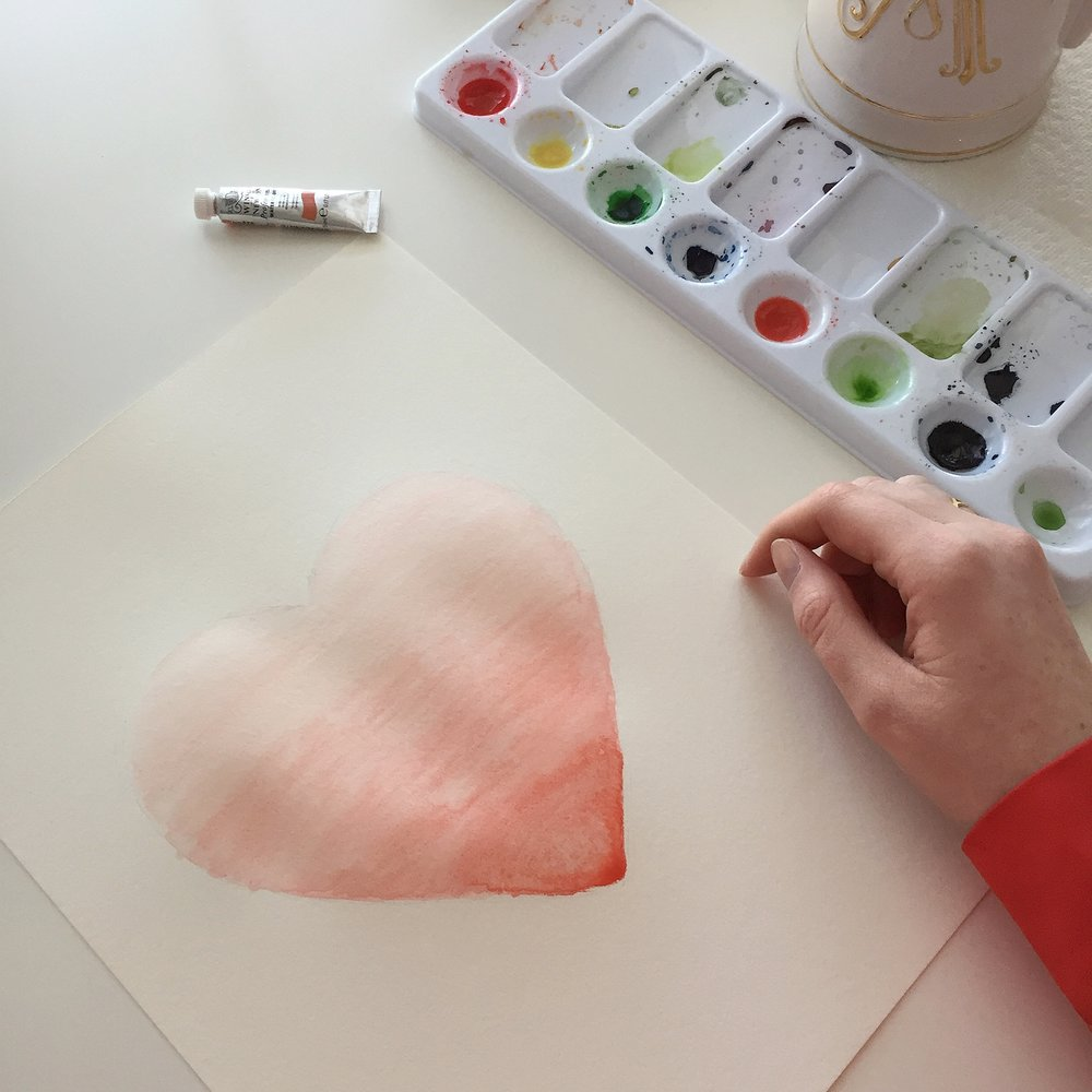 Ombre Watercolor Heart Tutorial Anna Kay Artworks8.JPG