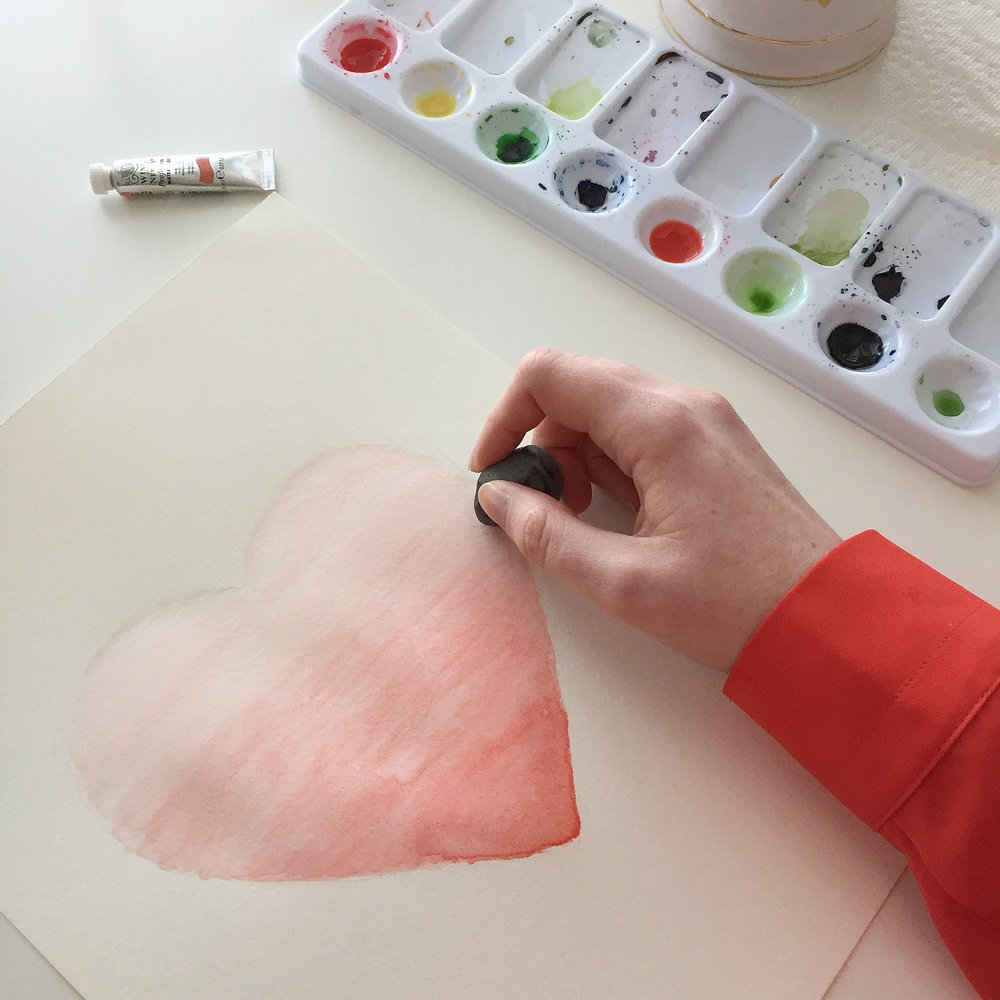 Ombre Watercolor Heart Tutorial Anna Kay Artworks9.JPG