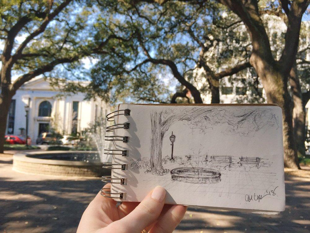 Johnson Square doodles.