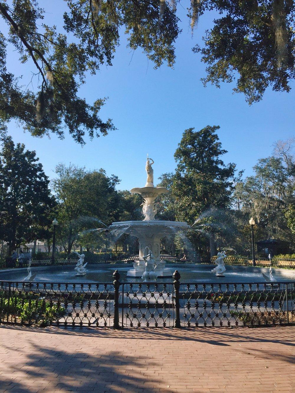The fountain at Forsyth Park!