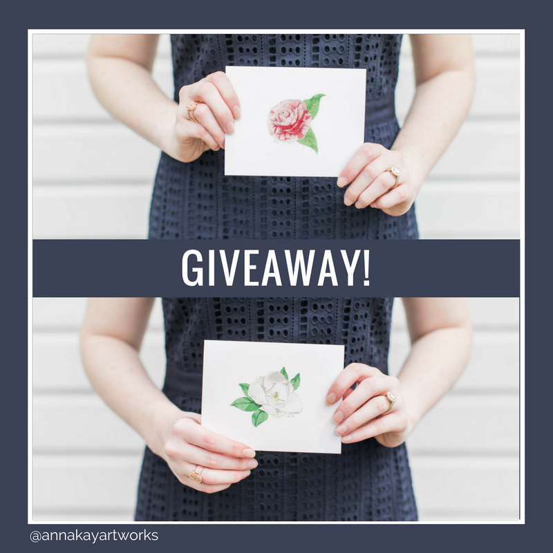 Southern Flower Floral Stationery Giveaway Anna Kay Artworks.png