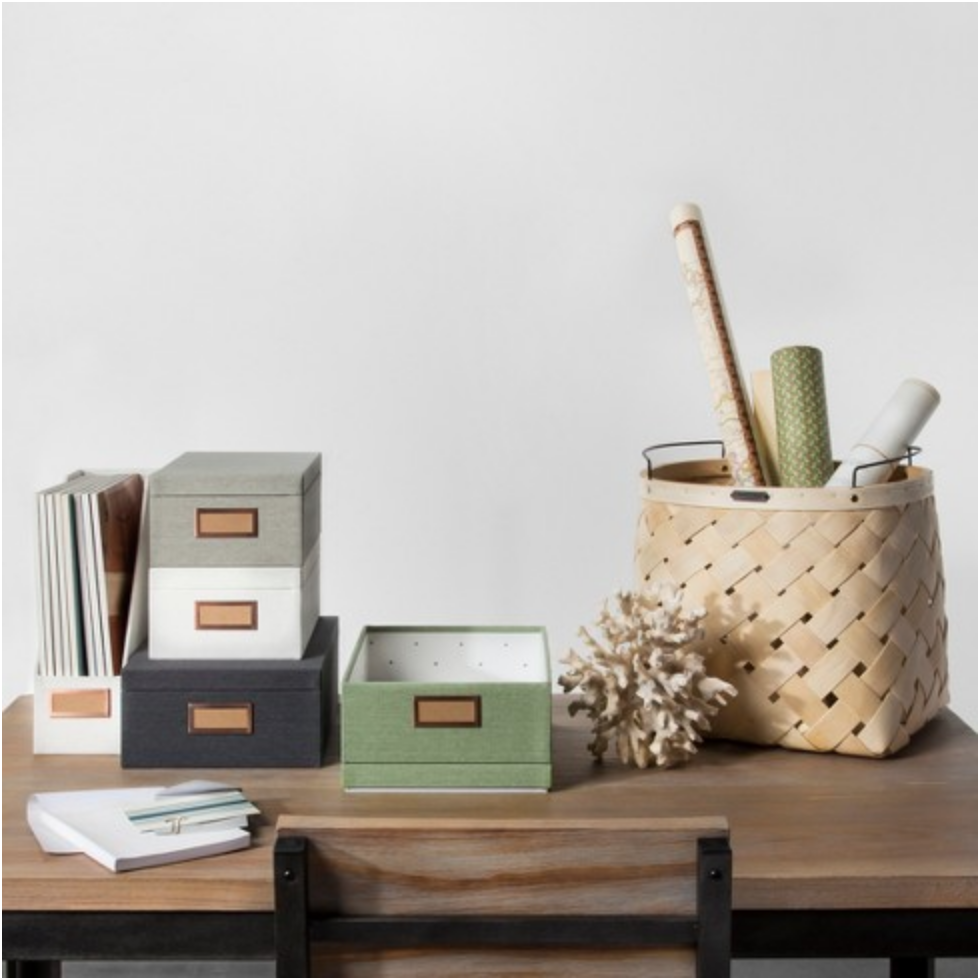 These fabric boxes   are perfect for creating your own little stationery filing system!