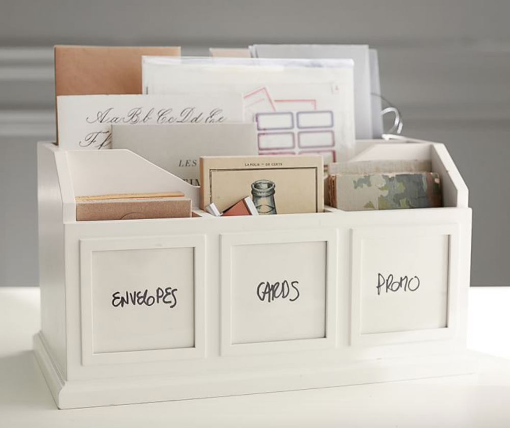 Let me label something and I'm a happy camper! If you have a collection of cards for different occasions,   this box with inserts   could really help keep things organized!