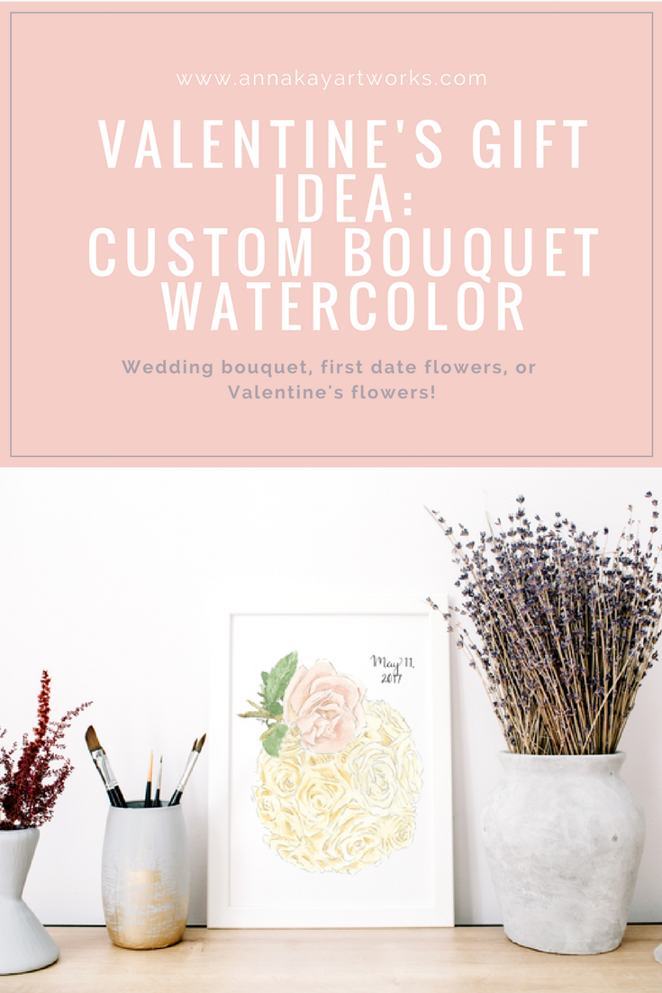 Valentine's Day Gift Guide Watercolor Love Flower Floral Bouquet Painting Anna Kay Artworks.png