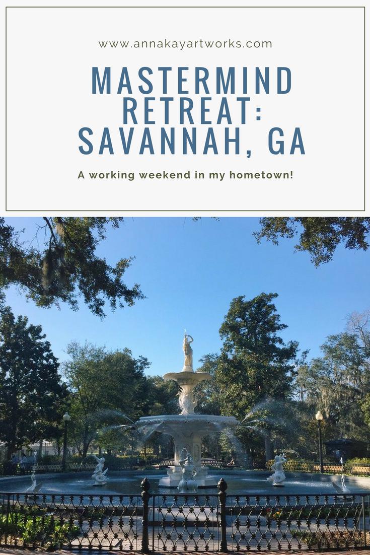 Travel Guide Savannah Georgia Retreat Anna Kay Artworks.png