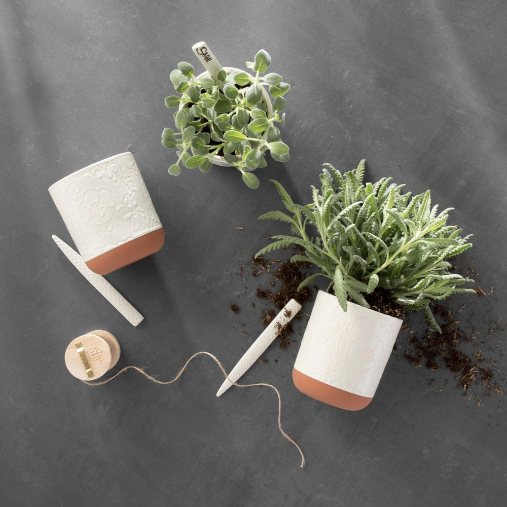 Hearth and Hand, planter and marker set -