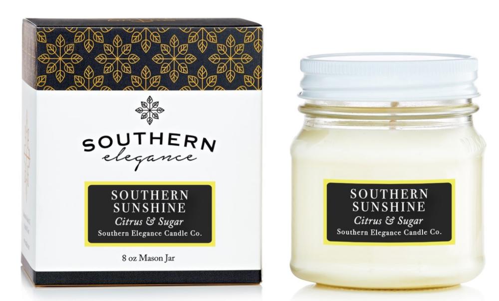 Southern Elegance mason jar candle,