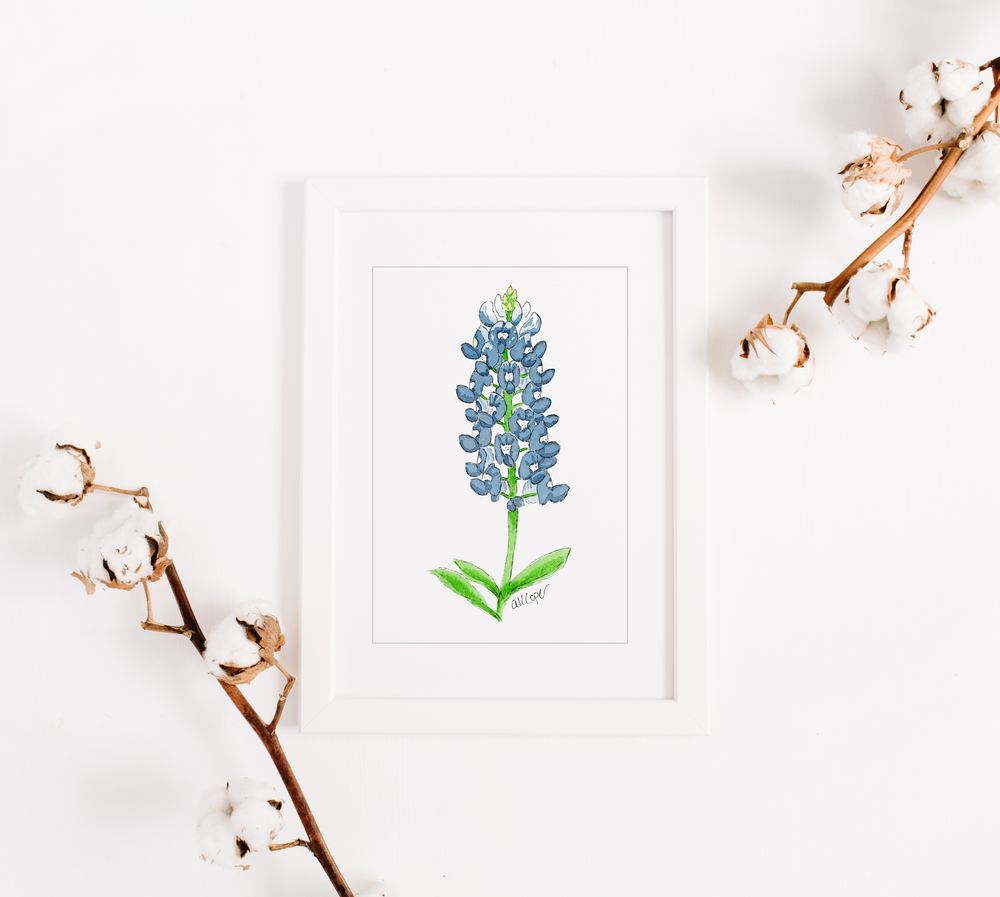 Anna Kay Artworks, Southern state flower print -