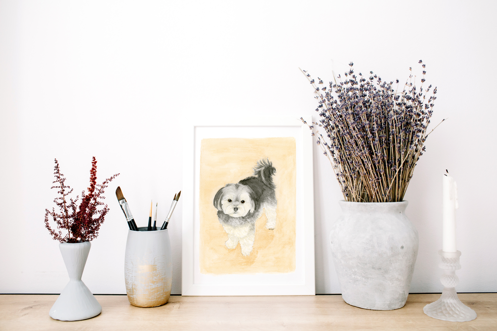 Anna Kay Artworks, Watercolor Pet Portrait -