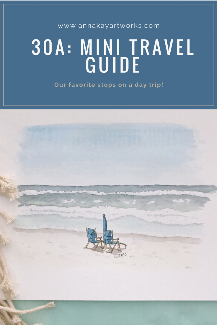30A Florida Vacation Travel Guide Anna Kay Artworks
