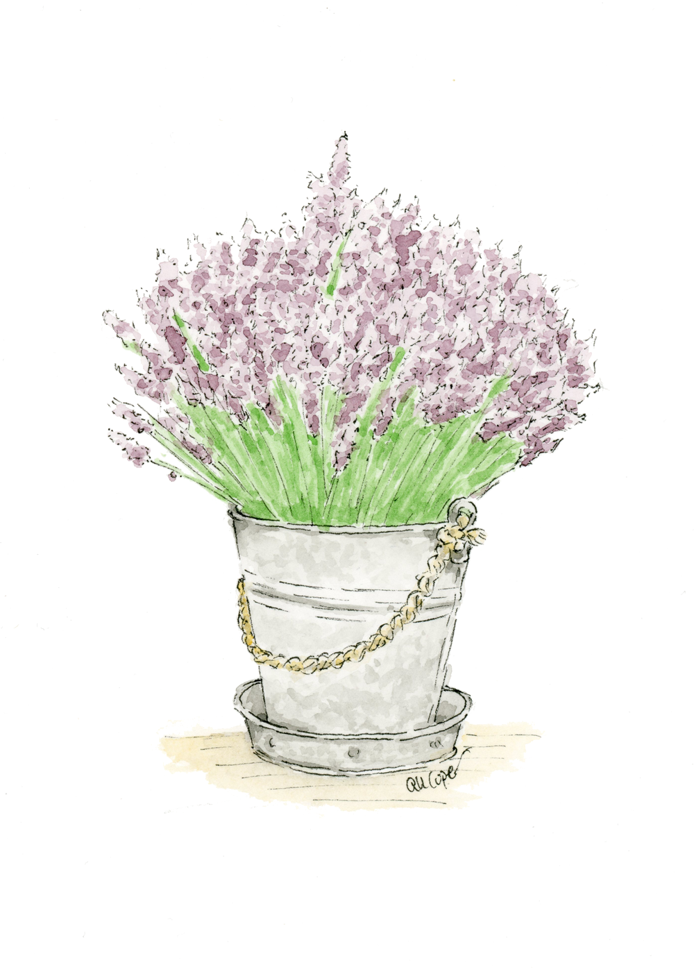 Mother's Day Free Watercolor Printable Lavender Bouquet Gift Anna Kay Artworks.png