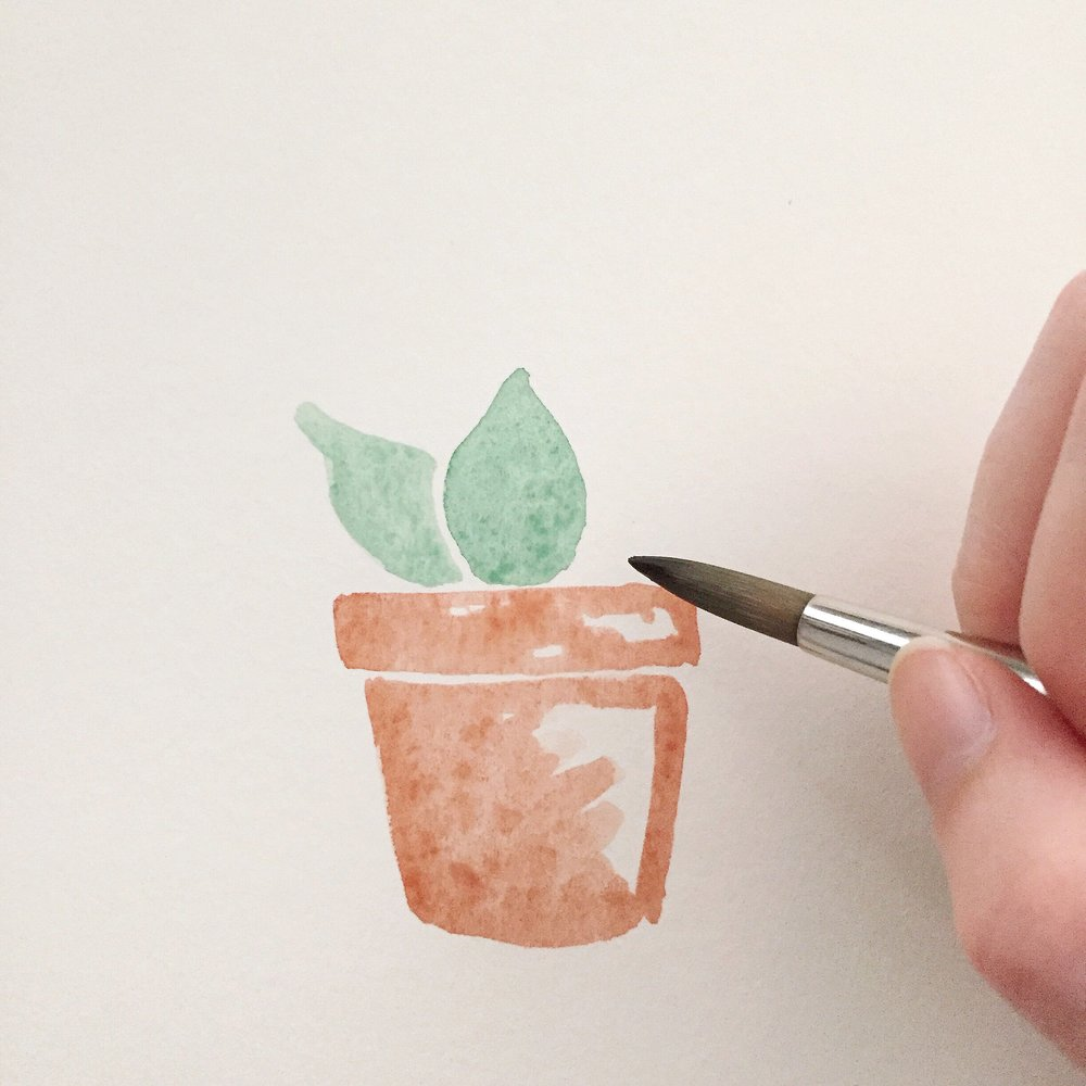 Free Watercolor Succulent Tutorial 6 Anna Kay Artworks