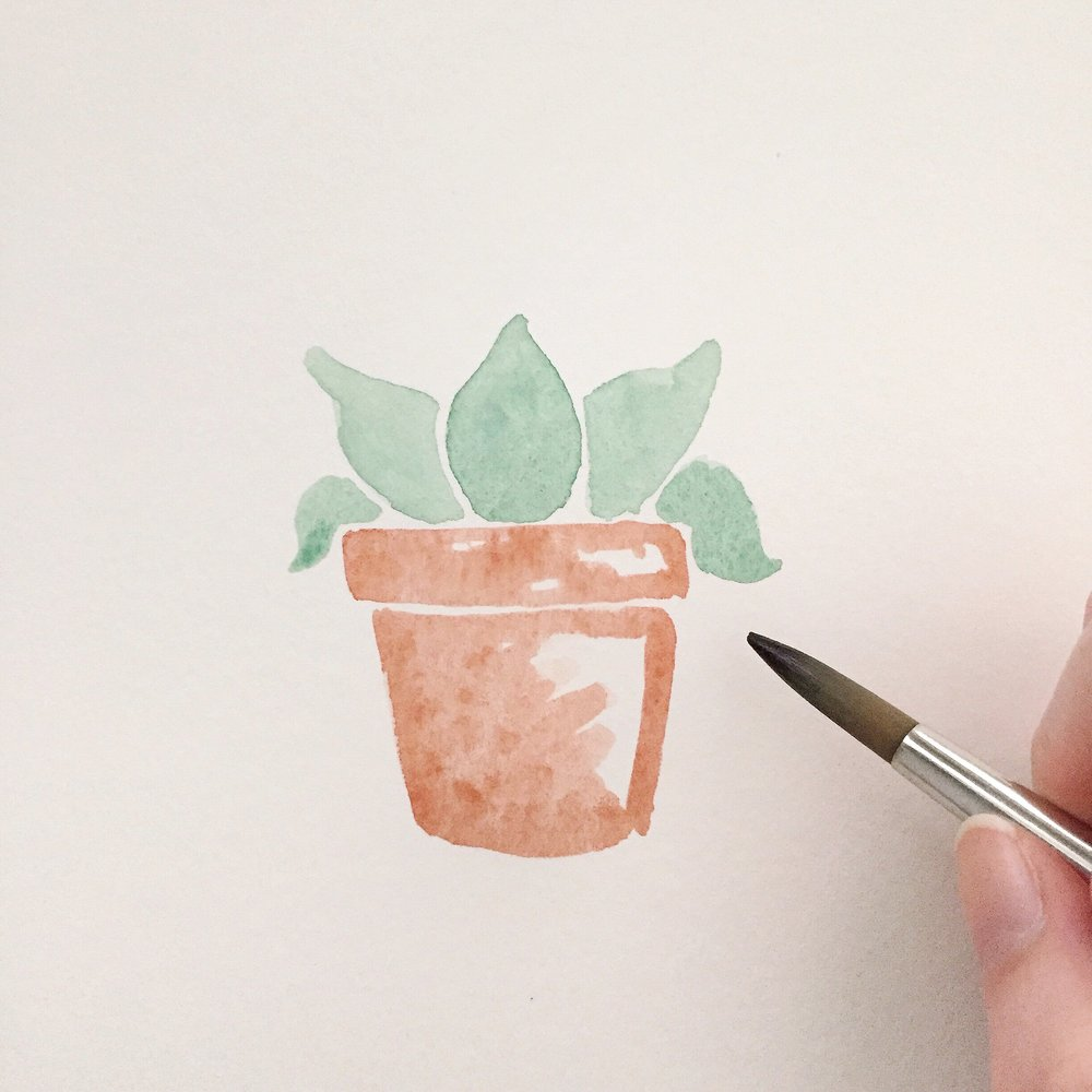 Free Watercolor Succulent Tutorial 7 Anna Kay Artworks
