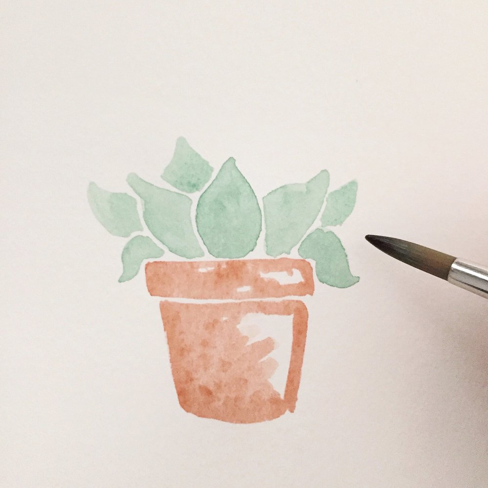 Free Watercolor Succulent Tutorial 8 Anna Kay Artworks