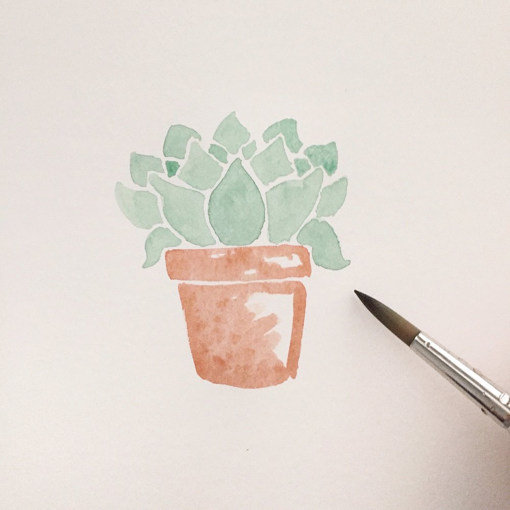 Free Watercolor Succulent Tutorial 9 Anna Kay Artworks