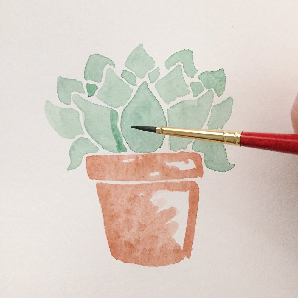 Free Watercolor Succulent Tutorial 10 Anna Kay Artworks