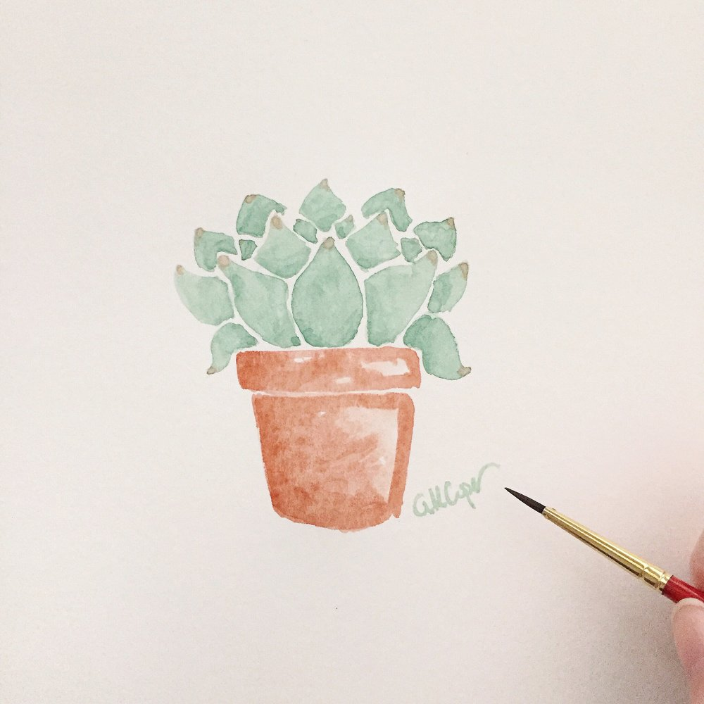 Free Watercolor Succulent Tutorial 12 Anna Kay Artworks