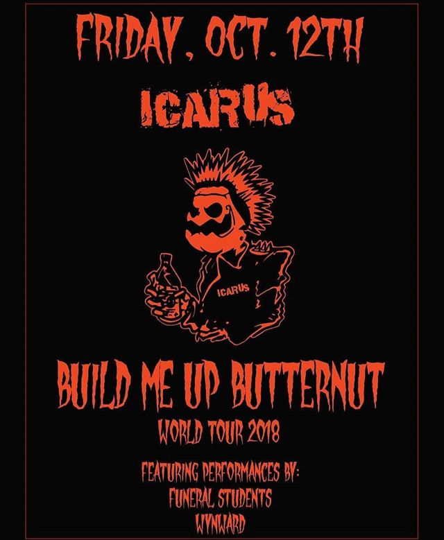 Catch us and @wynwardnj at @icarusbrewing Friday Oct 12th! Show starts at 7pm and it's gonna be a banger! Come wear costumes and come see what we're being this year!