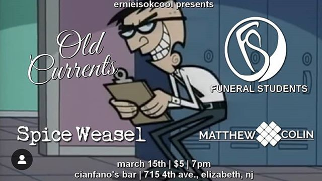 March 15th!!come see us at #cianfanosbar in Elizabeth NJ!! Only $5 bucks to see some stellar bands and of course yours truly! Hit us up for info we hope to see you all there babiezzz  #concert #livemusic #njmusic #njmusicscene #newmusic #grunge #rock #liveshow