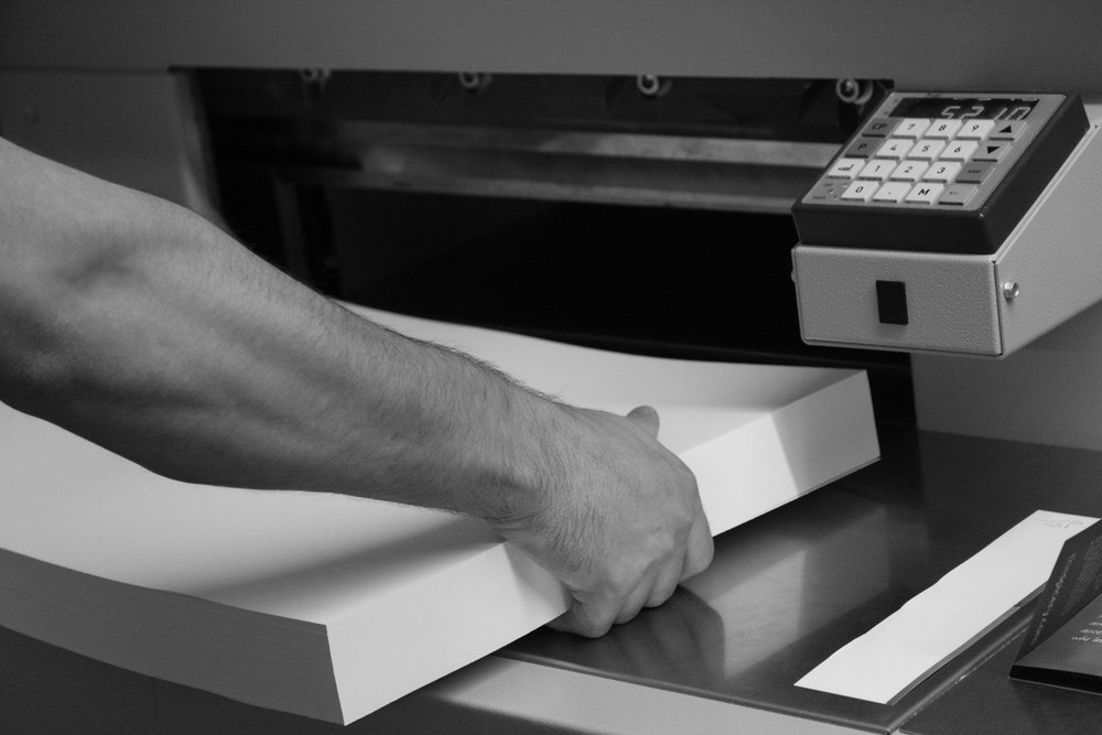 Experienced print finishers - where your stationery will be professionally finished to the highest standard