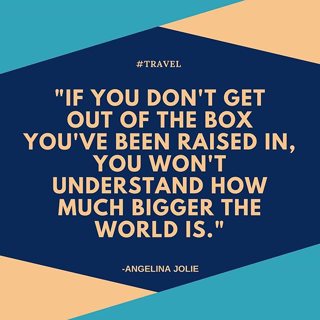 "Have you been able to travel outside of your ""box""? What was your first experience like? Let us know. Extrospection.org #extrospection #mondaymotivation #mondaymood #travel #outofthebox #goals #beyondtheboundary #seekadventure #adventureawaits #newhorizons #quotes #travelquotes #quotes #quotestoliveby #quotesaboutlife #quoteoftheday #motivationalquotes #inspiration #motivation #explore #adventure #traveltheworld #openyourworld"