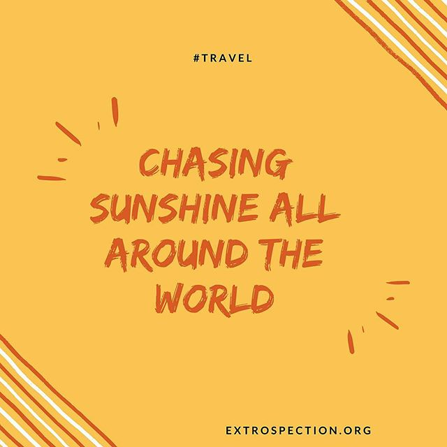 Where's the best sunshine? Have you seen it in person? Let us know. Extrospection.org #thursdaymotivation #thursdaythoughts #travel #chasingdreams #chasinglight #sunshine #explore #adventure #travellife #aroundtheworld #traveltheworld #adventuretravel #motivation #motivationalquotes #inspiration #quotes #quotestoliveby #quotesoftheday #quotesofinstagram