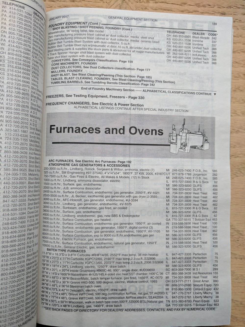 The inside of a category page within the directory.
