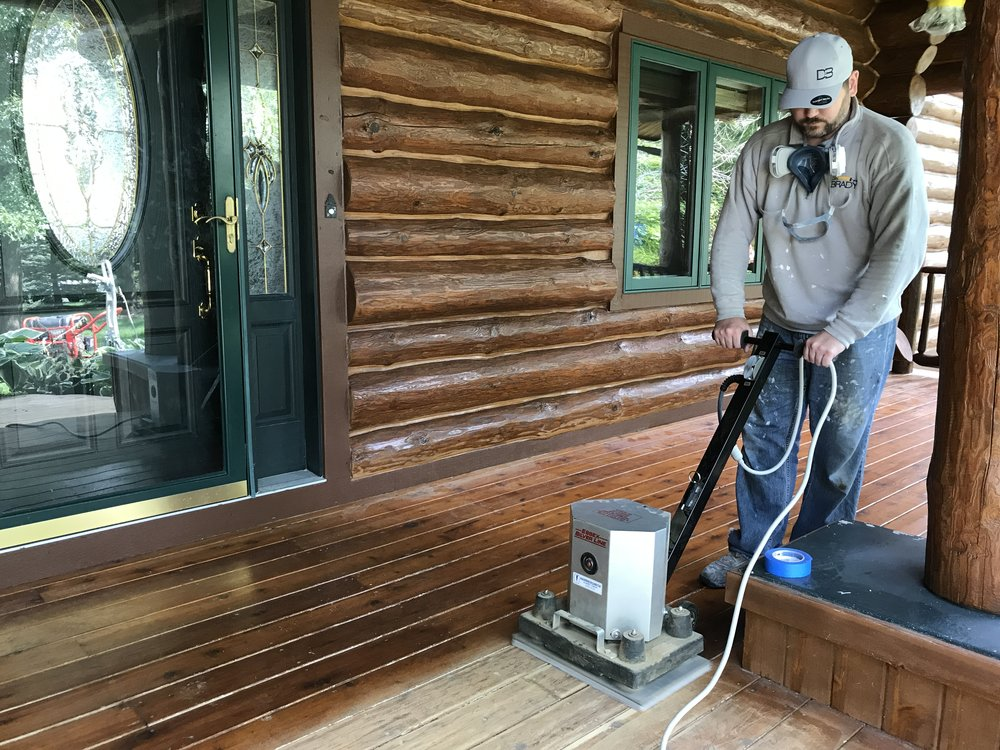 Deck restoration is one of our primary services.  We use only the best deck stains and deck sealers for this climate.