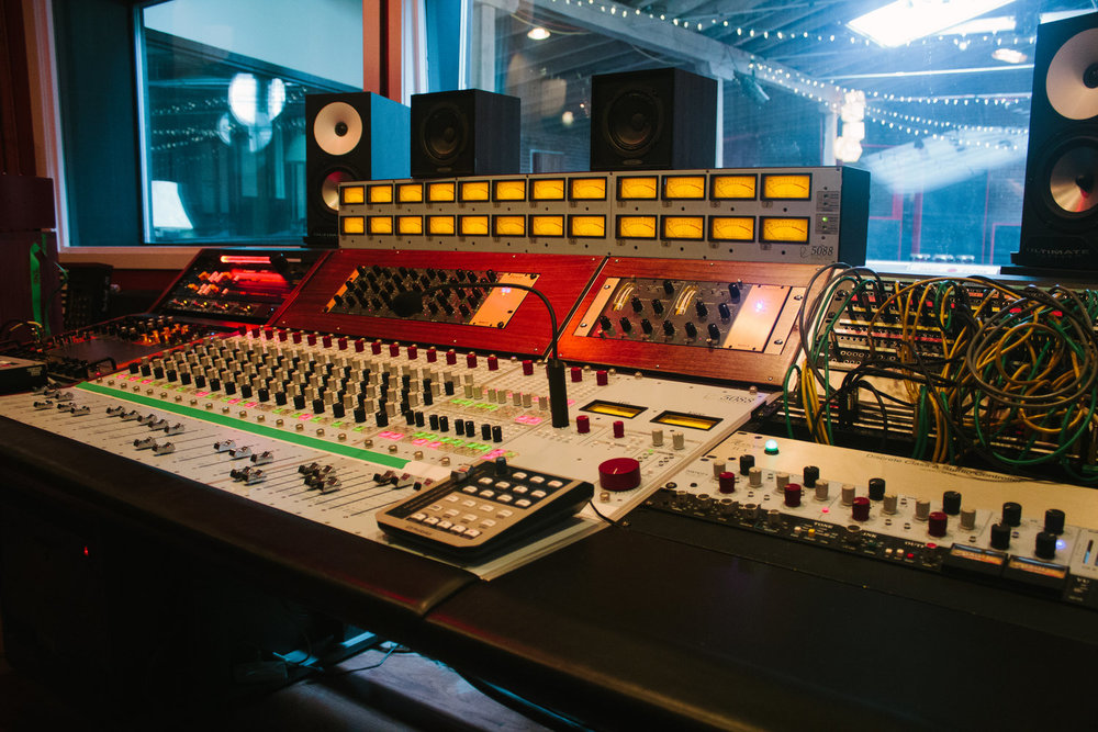 Philadelphia Recording Studio Control Room