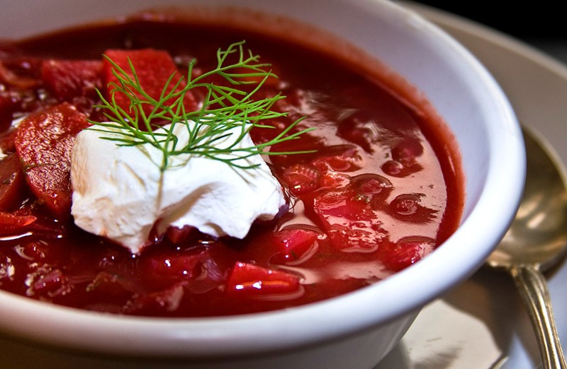 Traditional Red Borscht from Russia