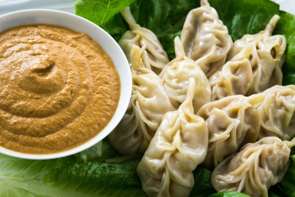 Tibetan Pork Momos with Chilli & Ginger
