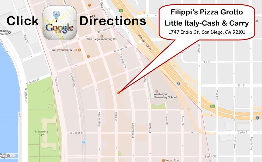 Little Italy San Diego Map.Little Italy Filippis Pizza Grotto Filippis Pizza Grottofilippis
