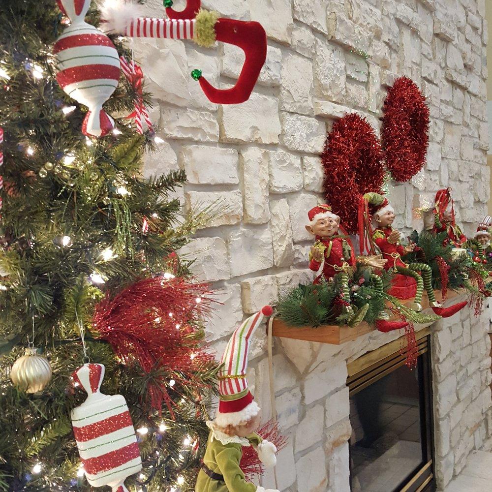 Elf on the Atrium Mantel Shelf!