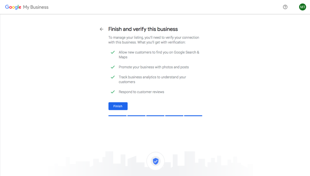 Google Real Estate Business Verification Page