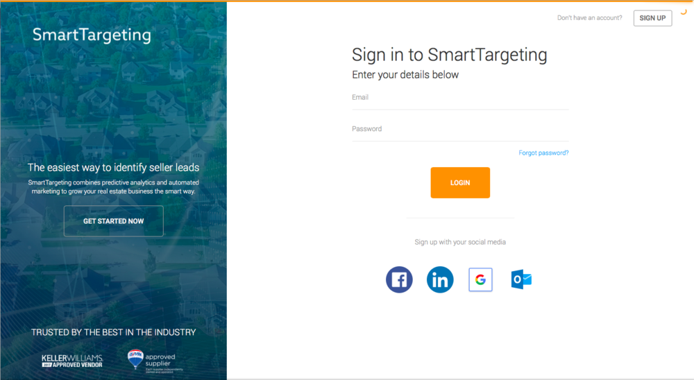 Smartzip Admin Login Screen