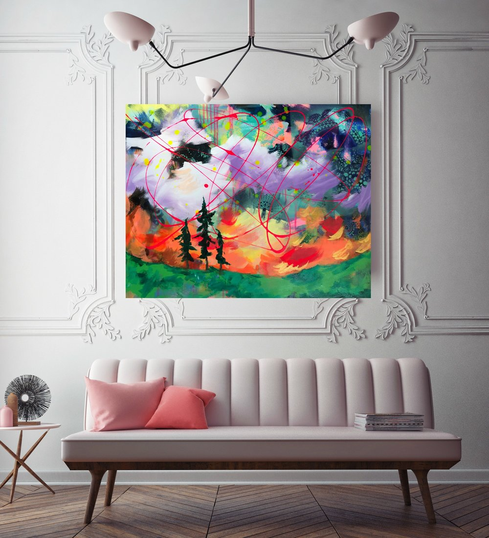 Northern Lights    24 x 30 in.