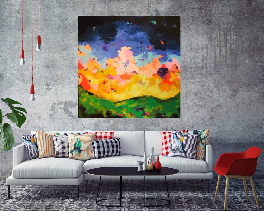 Valley of Love & Delight    48 x 48 in.