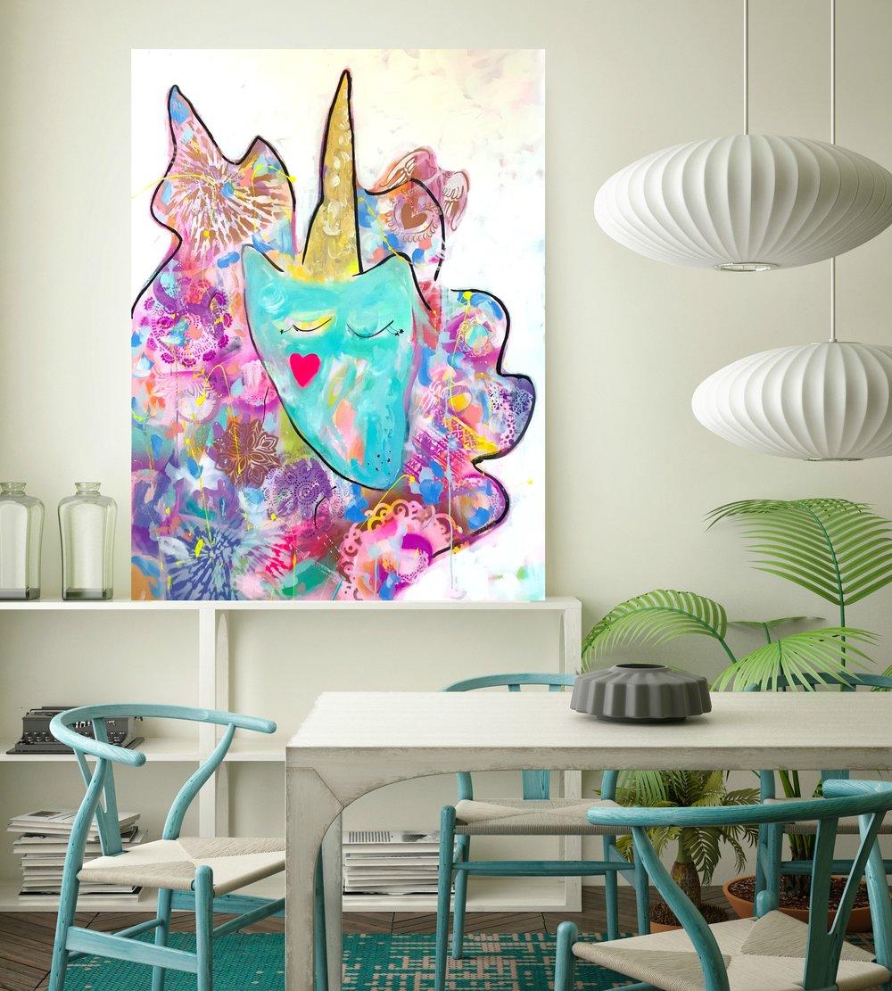 Be You, Unicorn Boo!    36 x 48 in.