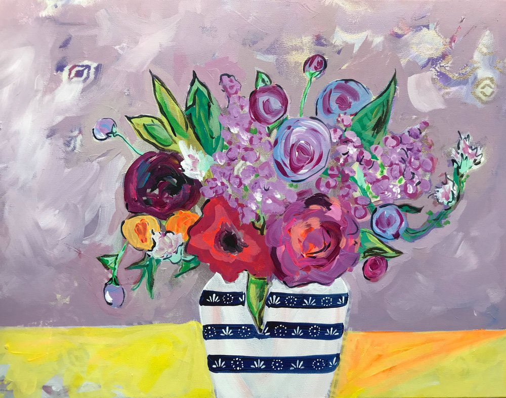 The Shelter of Flowers Collection #2    18in. x 24in.